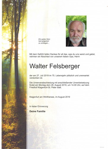 Walter Felsberger