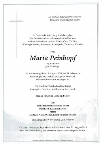 Maria Peinhopf, vlg. Gunacker