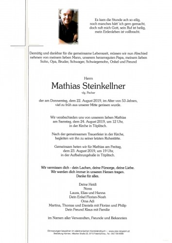 Mathias Steinkellner vlg. Pacher
