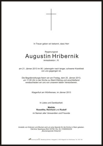 HRIBERNIK Augustin