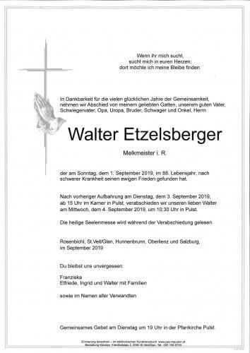 Walter Etzelsberger