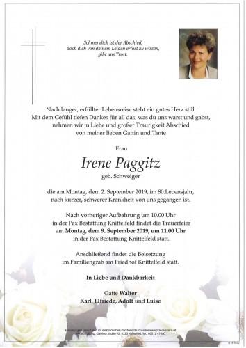 Irene Paggitz geb. Schweiger
