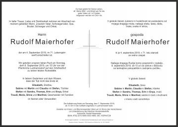 Rudolf Maierhofer