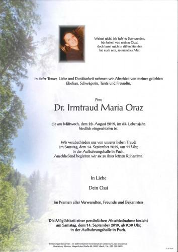 Dr. Irmtraud Maria Oraz