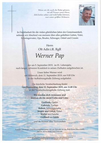 Olt Adir.i.R. RgR Werner Pap