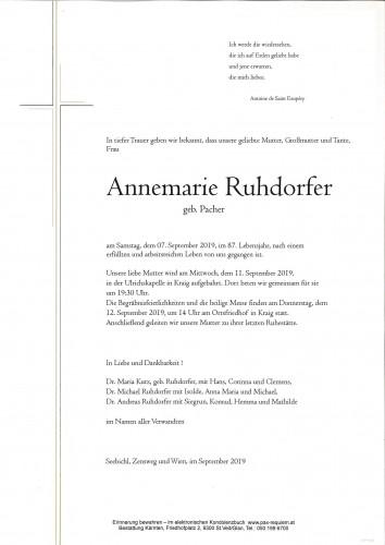 Annemarie Ruhdorfer  geb. Pacher
