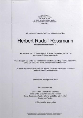 Herbert Rudolf Rossmann