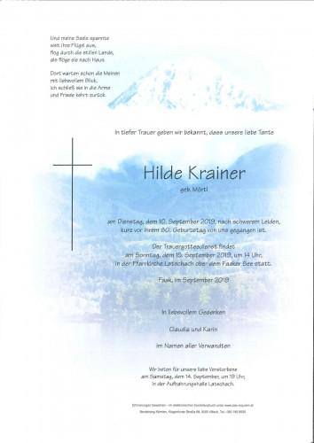 Hildegard Krainer geb. Mörtl