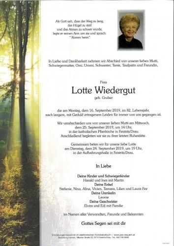 Lotte Wiedergut, geb Gruber