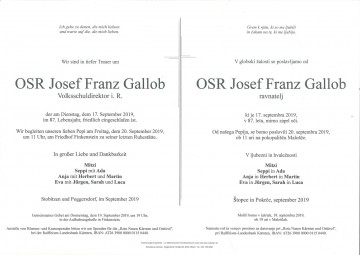OSR Josef Franz Gallob