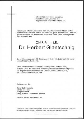 Dr. Herbert Glantschnig