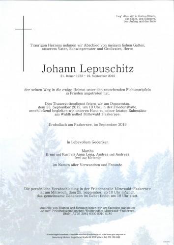 Johann Lepuschitz