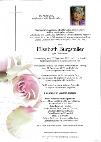 Elisabeth Burgstaller, geb. Oberlerchner