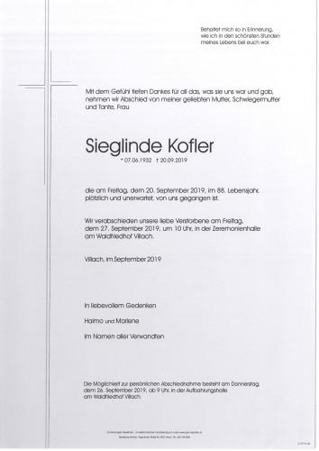 Sieglinde Kofler