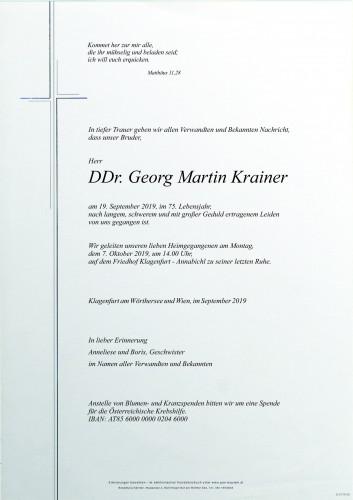 DDr. Georg Martin Krainer