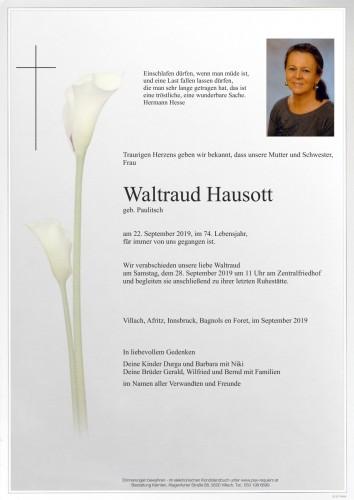 Waltraud Hausott, geb. Paulitsch