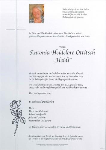 "Antonia Heidelore ""Heidi"" Ottitsch"