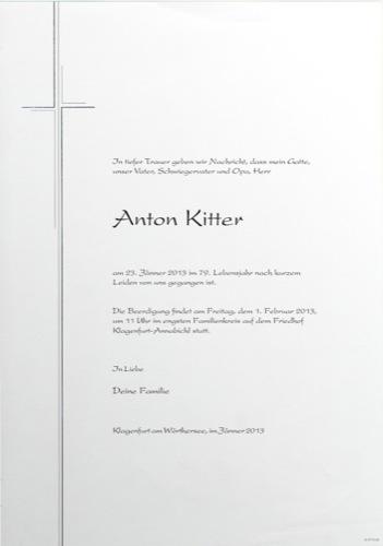 KITTER  Anton