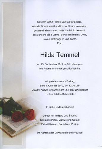 Hilda Temmel