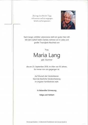 Maria Lang