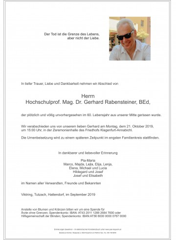 Mag. Dr. Gerhard Rabensteiner