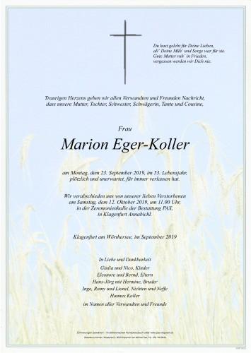 Marion Eger-Koller