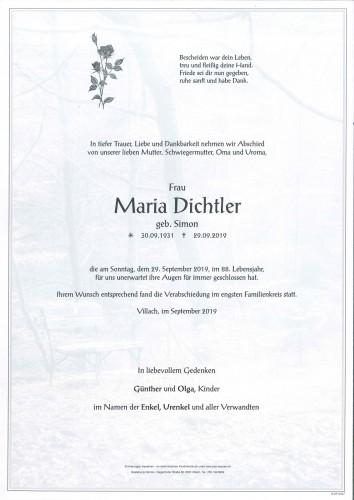 Maria Dichtler