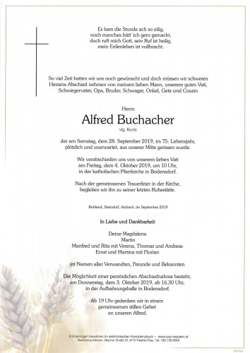 Alfred Buchacher, vlg. Kuntz