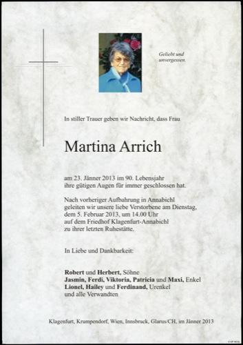 ARRICH Martina
