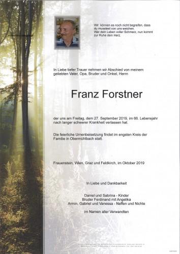Franz Forstner