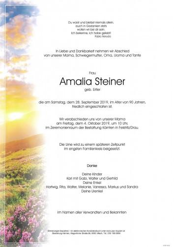 Amalia Steiner, geb. Ertler