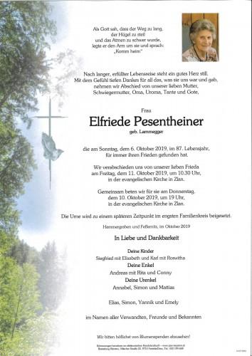 Elfriede Pesentheiner, geb. Lammegger