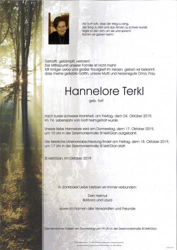 Hannelore Terkl  geb.Toff