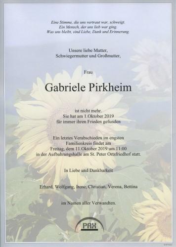 Gabriele Pirkheim geb. Murauer