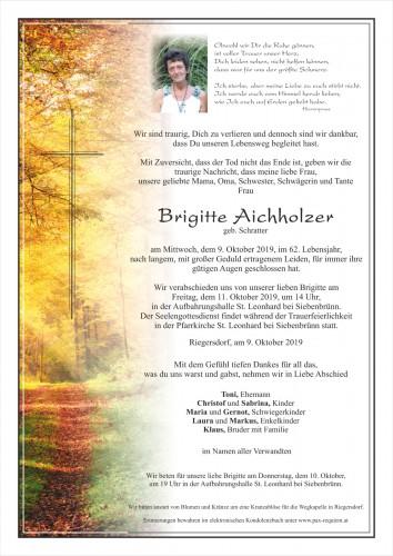 Brigitte Aichholzer, geb. Schratter