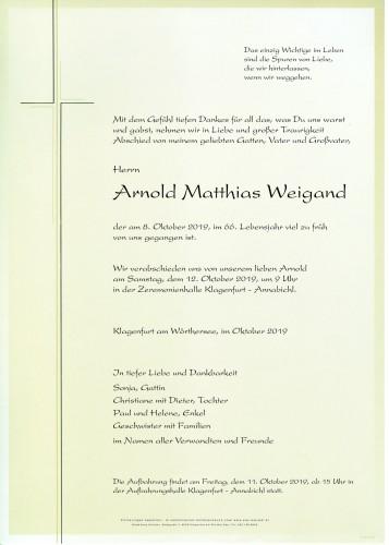 Arnold Matthias Weigand