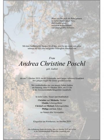 Andrea Christine Poschl