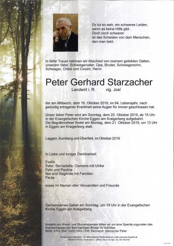 Peter Gerhard Starzacher