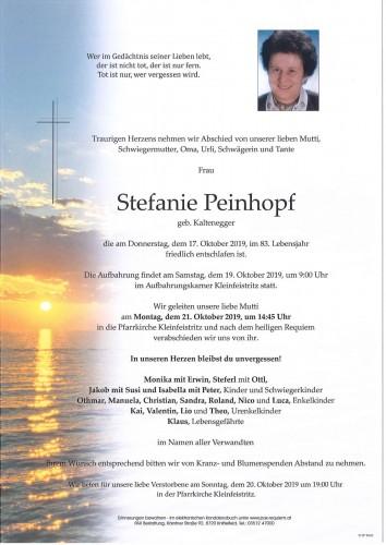 Stefanie Peinhopf geb. Kaltenegger