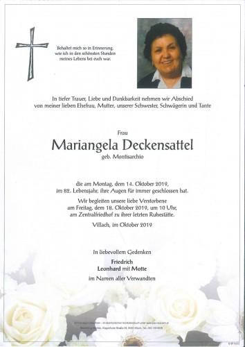 Mariangela Deckensattel geb. Montisarchio