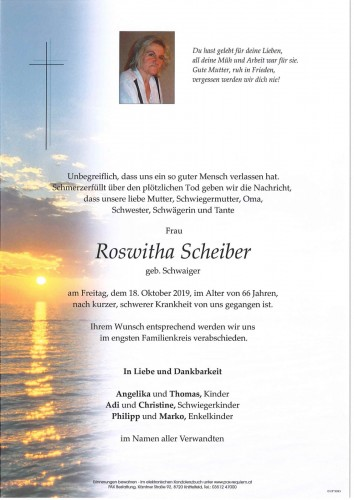 Roswitha Scheiber geb. Schwaiger