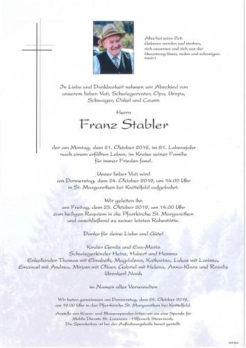 Franz Stabler