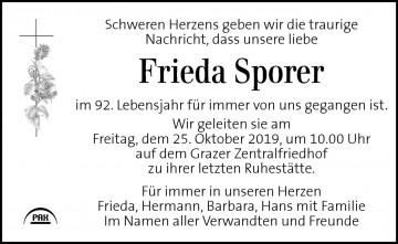 Frieda Sporer