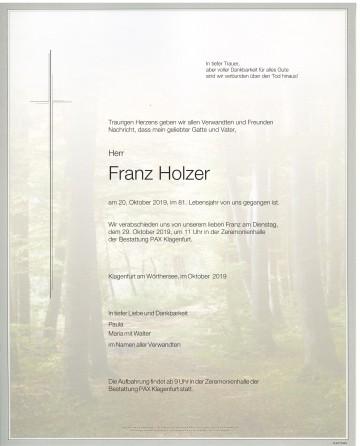 Franz Holzer