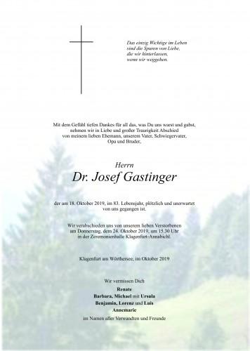 Dr. Josef Gastinger