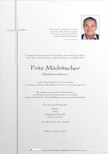 MÖDRITSCHER  Friedrich