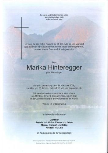 Marika Hinteregger geb. Unterweger
