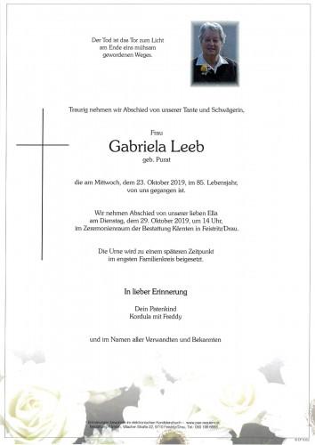 Gabriela Leeb, geb. Purat