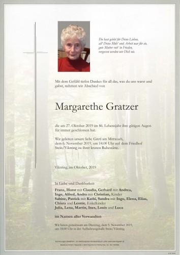 Margarethe Gratzer