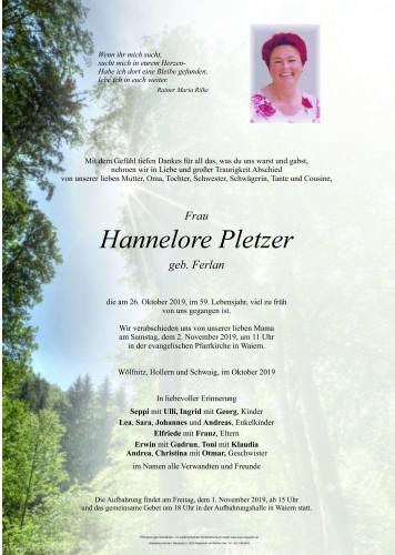 Hannelore Pletzer